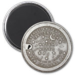 Crescent City Water Board Box Cover 2 Inch Round Magnet