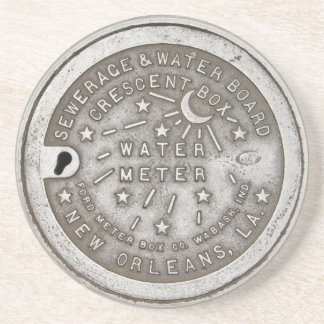 Crescent City Water Meter Cover Beverage Coaster
