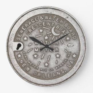 Crescent City Water Meter Cover Large Clock