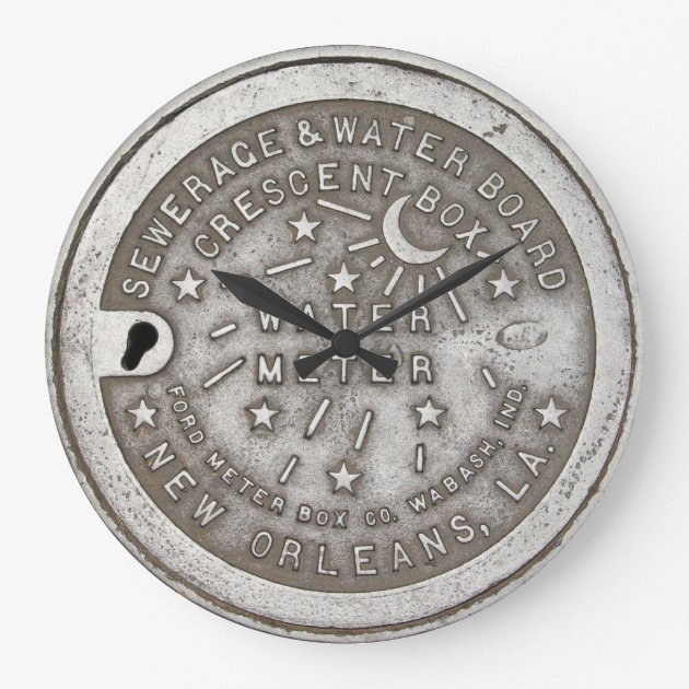 Studio Dalio - Crescent City Water Meter Cover Clock