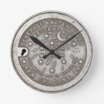 Crescent City Water Meter Cover Round Wallclocks