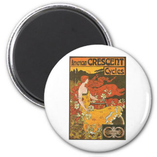 Crescent Cycles 2 Inch Round Magnet