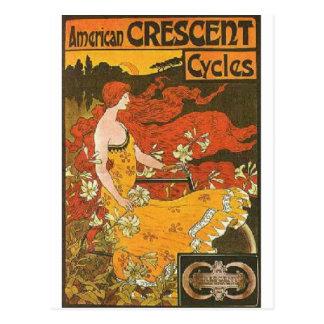 Crescent Cycles Postcard
