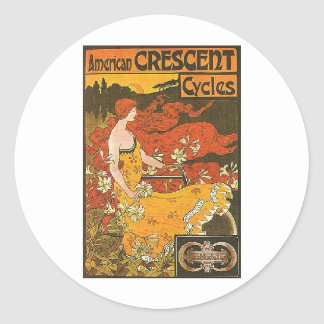 Crescent Cycles Stickers