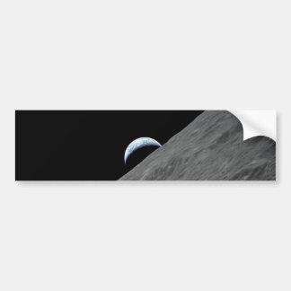 Crescent Earth Car Bumper Sticker
