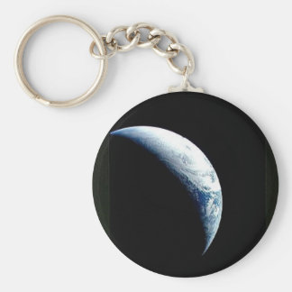 crescent earth keychain