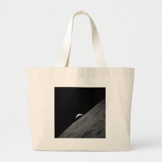 Crescent Earth Large Tote Bag