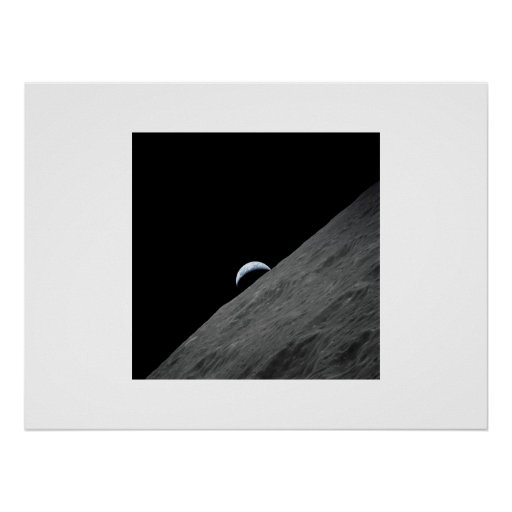 Crescent Earth Poster