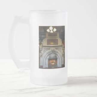 Crescent Hotel Fireplace Frosted Glass Beer Mug