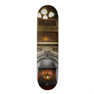 Crescent Hotel Fireplace Skateboard Deck