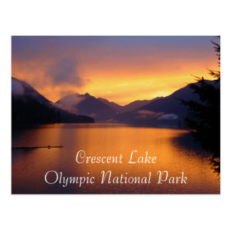 Crescent Lake Olympic National Park Postcard