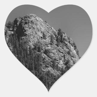 Crescent Moon and Buffalo Rock Heart Sticker