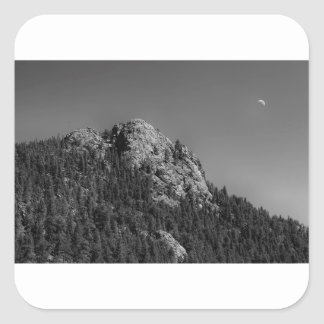 Crescent Moon and Buffalo Rock Square Sticker