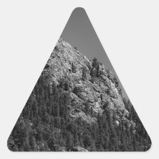 Crescent Moon and Buffalo Rock Triangle Sticker
