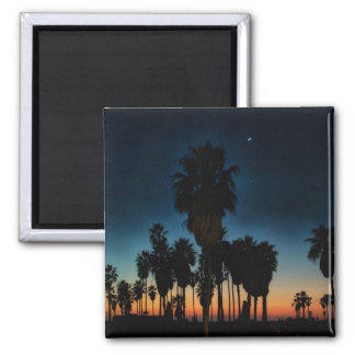 Crescent Moon And One Star On Sunset Magnet