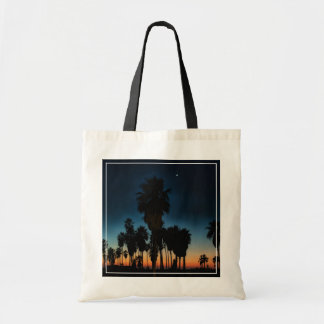Crescent Moon And One Star On Sunset Tote Bag