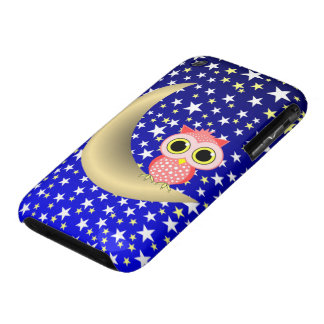 crescent moon and owl iPhone 3 Case-Mate case