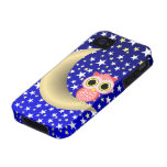 crescent moon and owl iPhone 4 cases