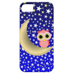 crescent moon and owl iPhone 5 cases
