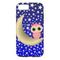 crescent moon and owl iPhone 7 case
