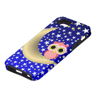 crescent moon and owl iPhone SE/5/5s case
