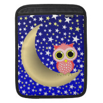 crescent moon and owl sleeve for iPads