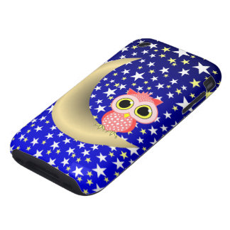 crescent moon and owl tough iPhone 3 case