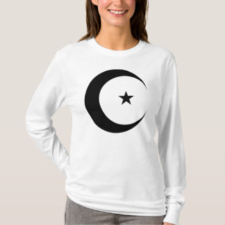 Crescent Moon and Star in Black T-Shirt
