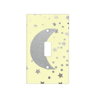 """Crescent Moon and Stars"" Light Switch Cover"