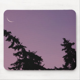 Crescent Moon at Sunrise Mouse Pad