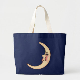 CRESCENT MOON by SHARON SHARPE Large Tote Bag