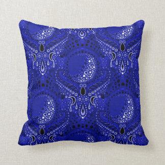 crescent moon damask throw pillow