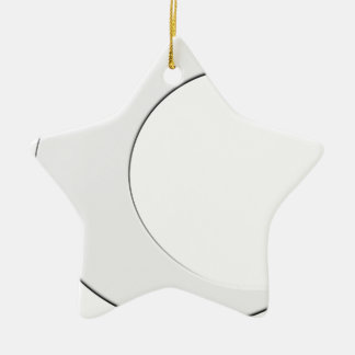 Crescent Moon Double-Sided Star Ceramic Christmas Ornament