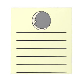 Crescent Moon Face Notepad