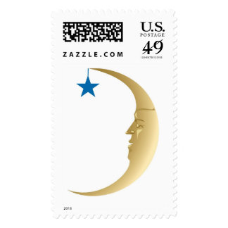 Crescent Moon Face Stamps