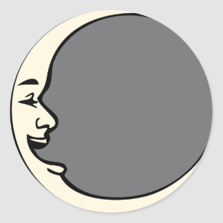 Crescent Moon Face Stickers