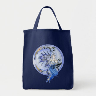 Crescent Moon Fairy grocery tote Grocery Tote Bag
