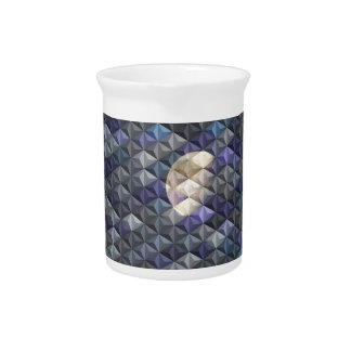 Crescent Moon in abstract Beverage Pitcher