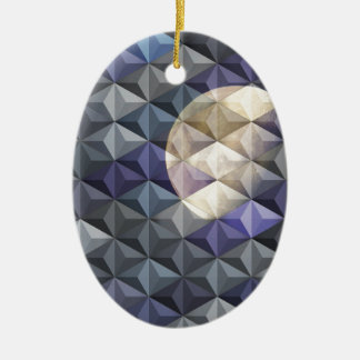 Crescent Moon in abstract Christmas Ornaments