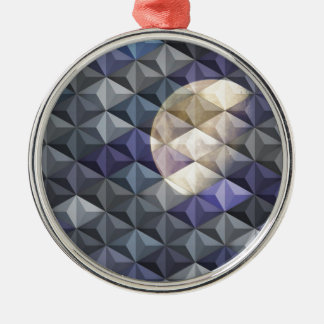 Crescent Moon in abstract Christmas Tree Ornament