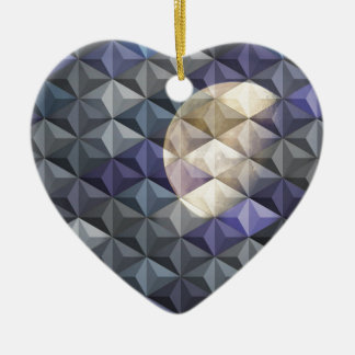 Crescent Moon in abstract Ornaments