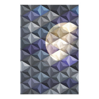 Crescent Moon in abstract Stationery