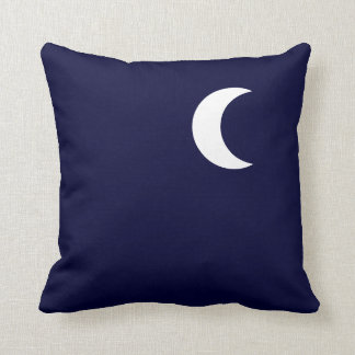 Crescent Moon,Midnight,Dark Blue Throw Pillow