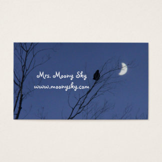 Crescent Moon Night Sky Business Card