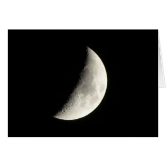 Crescent Moon Notecard Stationery Note Card