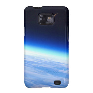 Crescent Moon Over A Bright Blue Glowing Earth Samsung Galaxy Cover