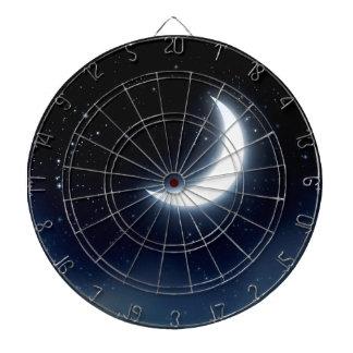 Crescent Moon over Starry Sky2 Dartboard