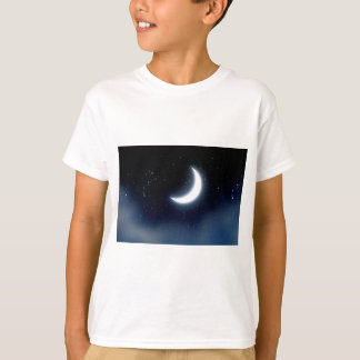 Crescent Moon over Starry Sky2 T-Shirt