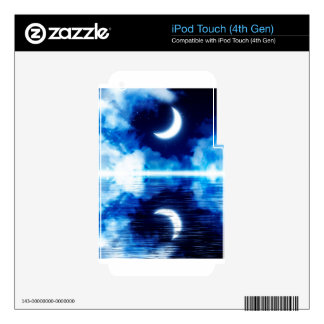 Crescent Moon over Starry Sky Decals For iPod Touch 4G