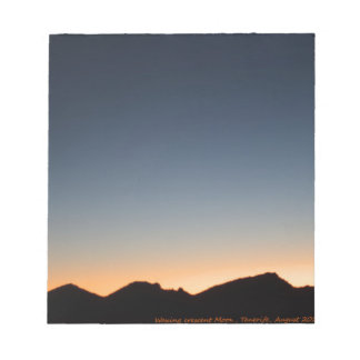 Crescent Moon over Sunset Notepad